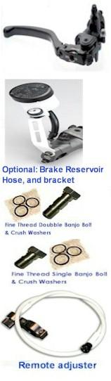 BREMBO RCS16 CLUTCH Mastercylinder w// Folding Lever 110.A263.50
