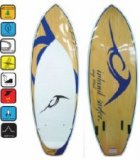 IS-BLKE-V2  Inland Wake Surf Boards - Blue Lake V2 Quad Fin 5'3 Wake Surf Board