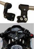 12-4537K3  WoodCraft  - Kawasaki Ninja 250 '08-12 / Ninja 300 '13-14   Riser Clipon Assembly with 2-1/2 inch rise