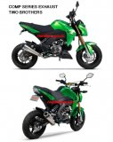 005-4450199  TWO BROTHERS Comp Series Stainless Full System with Carbon End Cap - '17-'18  Kawasaki Z125 Pro