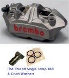 Brembo M4 CAST ALUM. FRONT Monobloc Brake Caliper 108mm  (LEFT SIDE CALIPER ONLY)