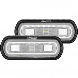 Rigid Industries LED Light Bar - SR-L Series Spreader - White Halo Flush Mount or Surface Mount