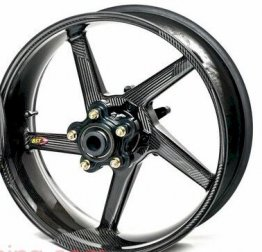 BlackStone BST Carbon Fiber Wheels for Kawasaki Ninja 250/300