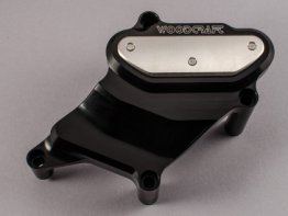 60-0407WPC  Woodcraft Billet Alum.  RIGHT  SIDE  Water Pump Cover  - BLACK - '15-'18 Yamaha FZ07