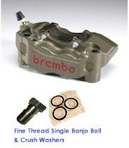 "Brembo ""HP"" BILLET FRONT Brake Calipers 100mm (Ducati/Aprilia/BMW/  ZX-10r '16-'17) (FREE EXPRESS SHIPPING)220.A168.10"