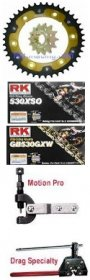 SuperSprox 520 Conversion Kit  STEEL/ALUMINUM & RK Chain (LIFETIME GUARANTEE on REAR SPROCKET) RK-SUSP