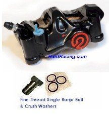 Brembo 484  BLACK    FRONT Brake Calipers  (FREE EXPRESS SHIPPING)220.B473.20, 220.B473.10