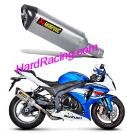 S-S10SO8-HRT  Akrapovic Single Titanium HEX Slip-on - '12-'16 GSX-R1000