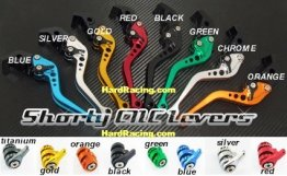 "SBL BILLET Alum. Clutch & Brake Lever Set - ""Shorty"" - '13-'20 Honda GROM / GROM SF  ADJ-LEVER-3-xx"