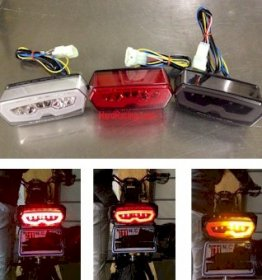 MPH-30127-x  - Comp. Werkes LED Integrated Clear Tail Light,  '13-'20  Honda GROM / GROM SF