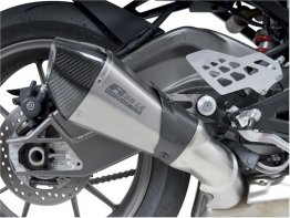 1520487  Yoshimura R-55 LE Titanium Slip-on (Carbon End Cap) - '14-16  S1000 R