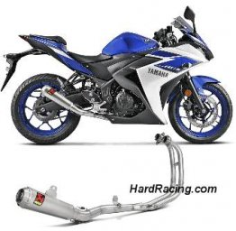 S-Y2R1-CUBSS   Akrapovic RACE Full System w/ Stainless Round Canister - '15-'20 Yamaha R3