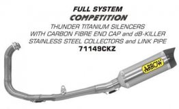71149CKZ Arrow Competition Stainless Full Exhaust - '15-'19 Yamaha R3 / R25