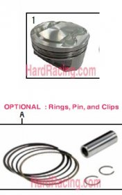 Takegawa 181cc 4V BARE PISTON ONLY  - '13-'20  Honda Grom 01-02-0242 or 13101-KYZ-T02 or 13101-KYZ-T00 or 13101-KYZ-T03