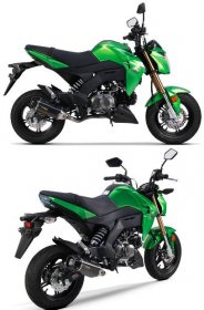 005-4480105-T  TWO BROTHERS Tarmac Stainless Full System with Carbon Can - '17-'20  Kawasaki Z125 Pro