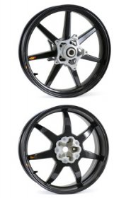 BST-7SPK-H2 BLACKSTONE (BST) Carbon Fiber 7 Spoke Wheels - Kawasaki Ninja H2/R