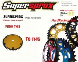 SuperSprox 520 Rear Steel/Aluminum ON-DEMAND/CUSTOM MADE Sprocket  SPSX-520-custom
