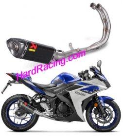 S-Y3R1-APC   Akrapovic RACE Full System w/ Carbon Canister - '15-'20 Yamaha R3