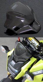 "BPCX-7728  Tyga Performance Carbon Fiber Fly Screen - Honda GROM ""SF ONLY"""