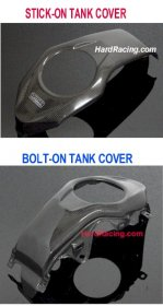 "BPCX-7948 BPCX-7938 Tyga Performance Carbon Fiber Tank Cover - Honda GROM ""SF ONLY"""