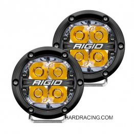 "Rigid Industries LED Light Bar - 360  SERIES   - 4"" LED OE Fog Light Spot Beam with Amber Backlight, Pair    36114"