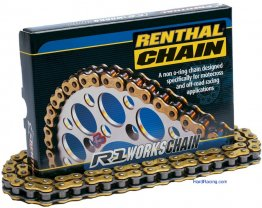 Renthal 420  NON-Oring Chain  - 130 link - Works  Chain - C246