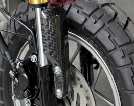 BPCC-7042  Tyga Performance Fork Guards , Sold as a Pair  (Carbon) - For '19-'20 Honda Monkey 125 (SPECIAL ORDER ONLY)