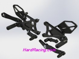 RS671k  Vortex Rear Sets - Yamaha '15-18 R1  - BLACK