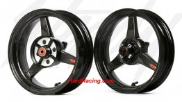 Honda Grom  Carbon Fiber Wheel & Tire Package (OEM Sizes) - '13-'20  Honda GROM / GROM SF