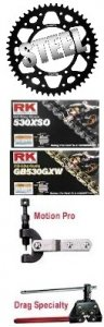 SuperSprox 520 Conversion Kit  STEEL/STEEL & RK Chain (LIFETIME GUARANTEE on REAR SPROCKET)  RK-SUSP