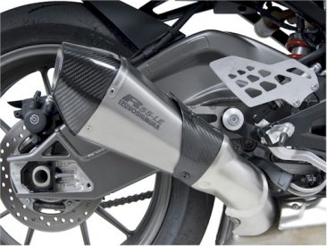 1520487  Yoshimura R-55 LE Titanium Slip-on (Carbon End Cap) - '12-15  S1000RR